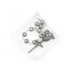 Single Decade Rosary Metal Rose grain 5 mm
