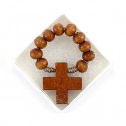 Single Decade Rosary Round Wooden grain 6 mm