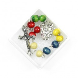 Single Decade Rosary Missionary Wooden grain 6 mm