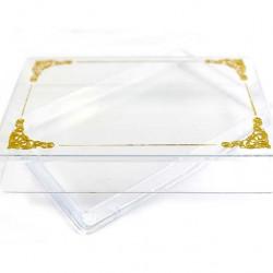Plastic Case golden Decoration 2,3x12,5x8 cm