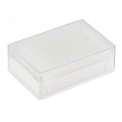 Astuccio rettangolare in plastica 6x4x2 cm