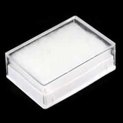Rectangular plastic case 6x4x2 cm