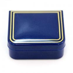 Astuccio rettangolare in plastica blu 4,5x4x1,7 cm