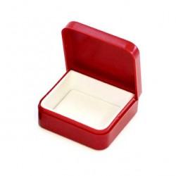 Rectangular red plastic case 4.5x4x1.7 cm