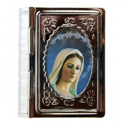 Book with Medjugorje Rosary Case 6x5 cm