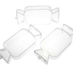 Transparent Plastic Candy 12x6x3 cm