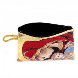 Red Purse Virgin with Child 7x10 cm