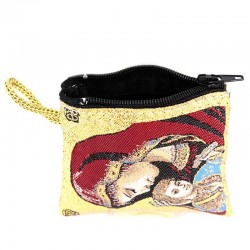Red Purse Virgin with Child 6.6x7.2 cm