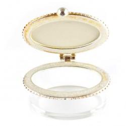 Lourdes Oval Plexiglass Rosary Case 2.5x5.3x3.5 cm