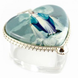 Plastic Case Our Lady of Miracles 2.5x5.5x4.5 cm