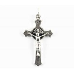 Croce San Benedetto metallo 2x3,5 cm