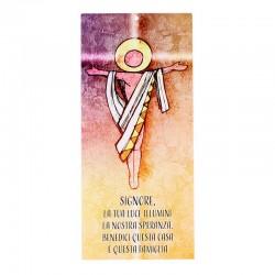 Benedizione della famiglia Gesù 10x22 cm