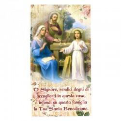 Benedizione della famiglia Sacra Famiglia oro 12x22 cm