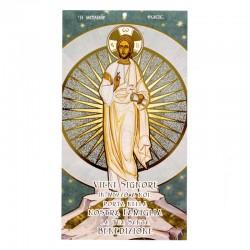 Benedizione della famiglia Gesù con raggi oro 12x22 cm