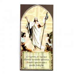Benedizione della Famiglia Gesù Risorto 8x17 cm