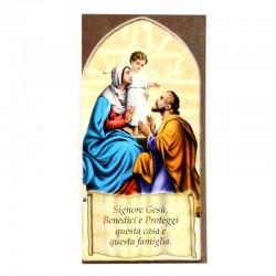Benedizione della Famiglia Sacra Famiglia 8x17 cm