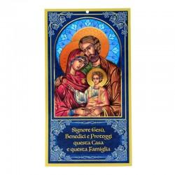 Benedizione della Famiglia Icona Sacra Famiglia 12x22 cm