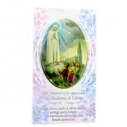 Our Lady of Fatima Blessing Card 12x22 cm