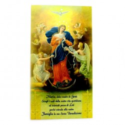 Our Lady of Knots Blessing Card 12x22 cm