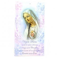 Mary's Heart Golden Blessing Card 12x22 cm