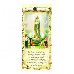 Family Blessing Golden Our Lady of Fatima 10x22 cm