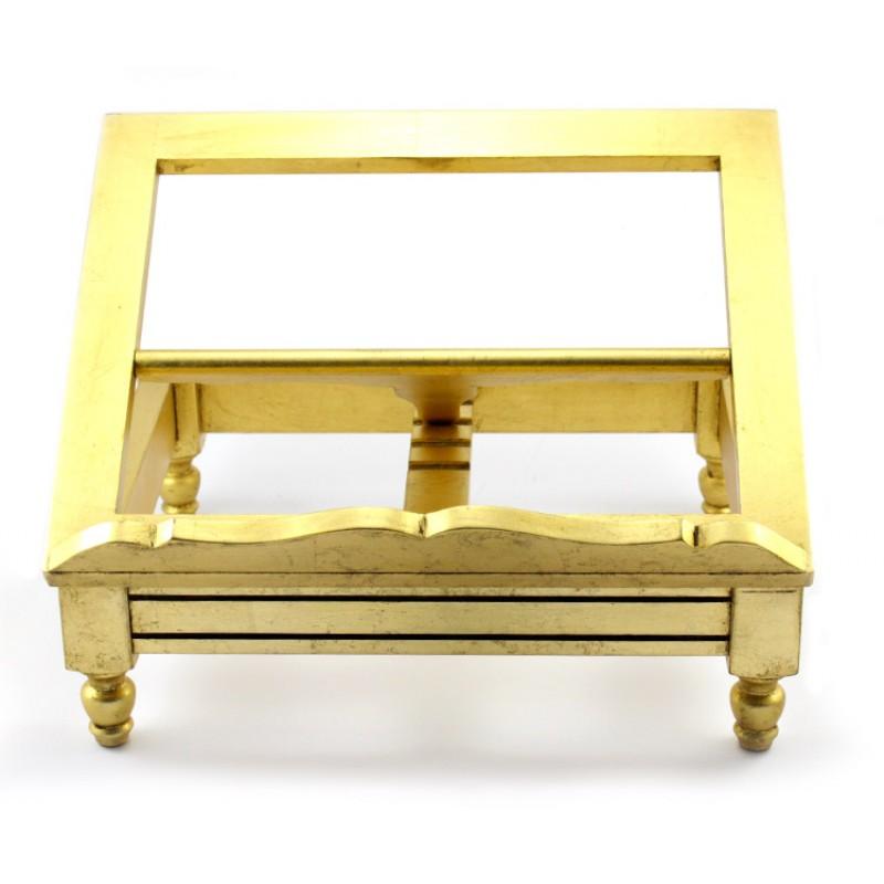 Leggio da tavolo in legno dorato 39x30 5x17 cm - Tavolo grande legno ...