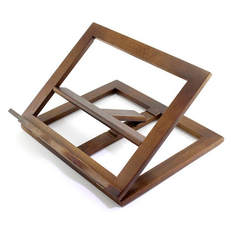 Leggio da tavolo in legno noce 33x27 cm - Leggio da tavolo per studiare ...