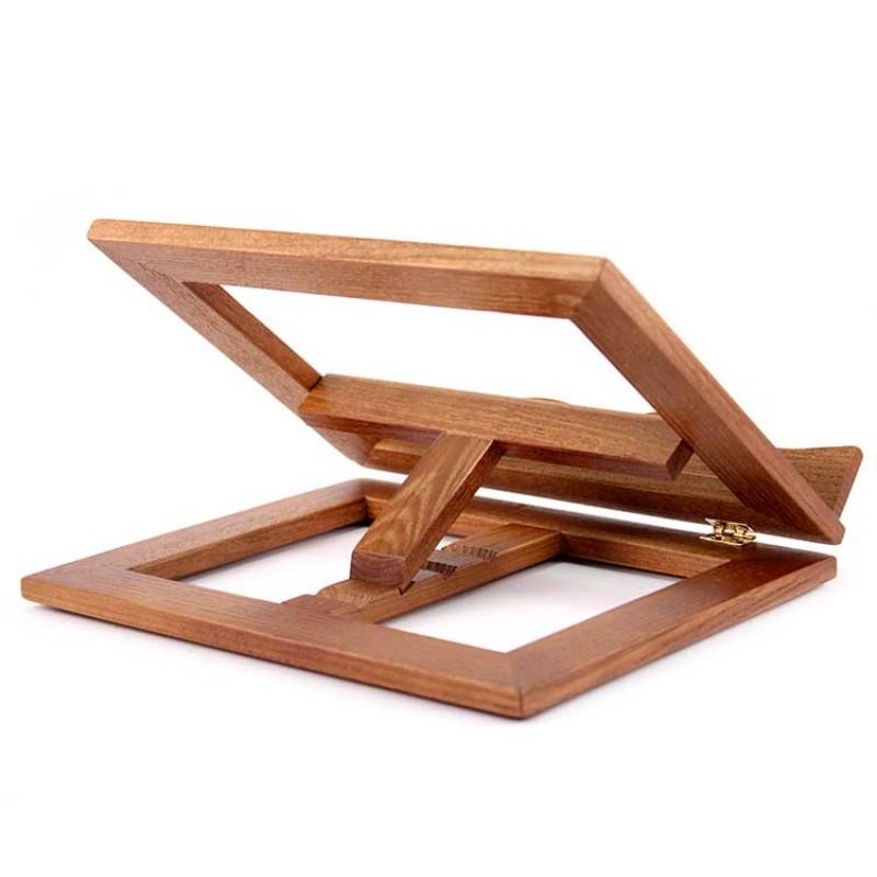 Leggio da tavolo in legno scuro 25x20 cm - Leggio per libri da tavolo ...