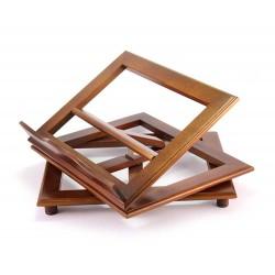 Leggio da tavolo girevole in legno tinta noce 35x28 cm