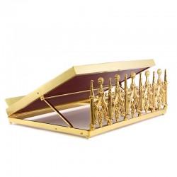 Leggio da mensa stile Gotico ottone dorato cm 43x32 cm