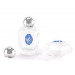 Bottiglietta vetro argentato per olio benedetto 6x3,5