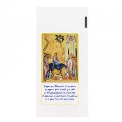 Bustina Domenica delle Palme Entrata Gerusalemme 11x23 cm 200 Pz