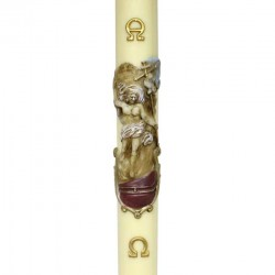 Beeswax Paschal Candle Risen Jesus 8x120 cm