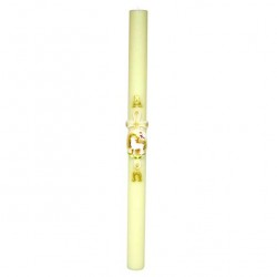 Beeswax Paschal Candle Relief Lamb 8x120 cm