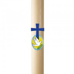 Paschal candle in wax Cross and dove in relief 8x120 cm