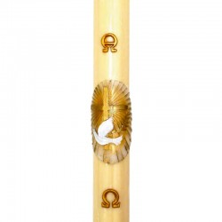 Paschal candle in wax Halo with Cross and dove 8x120 cm