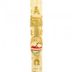 Cero Pasquale in cera Croce e Agnello in rilievo 8x120 cm