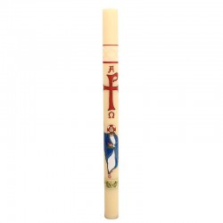 Painted Paschal Candle Christ 8x120 cm