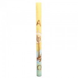 Hand Painted Paschal Candle IHS decoration 8x120 cm