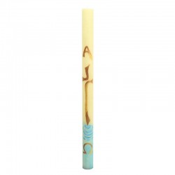 Hand Painted Paschal Candle Simple Cross 8x120 cm