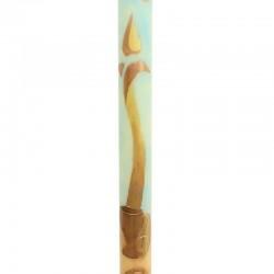 Cero Pasquale DIPINTO a mano Candela Stilizzata 8x120 cm