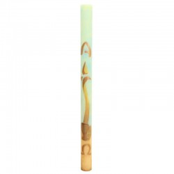 Hand Painted Paschal Candle Simple Candle 8x120 cm