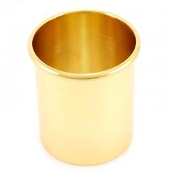 Bossolo portacero in ottone dorato Diametro 8 cm