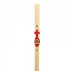 Wax relief Paschal candle red Lamb 8x120 cm