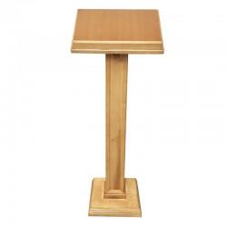 Leggio a stelo in legno chiaro colonna grossa 120 cm