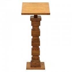 Leggio a stelo in legno scuro colonna cubi 120 cm