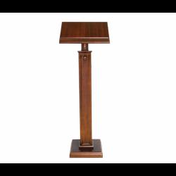 Leggio a stelo in legno scuro colonna grossa 120 cm