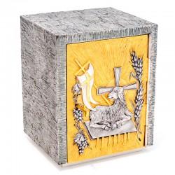 Tabernacolo fuso con porticina Agnello Immolato  28x37x25 cm