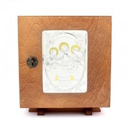 Tabernacolo da mensa in legno Ultima Cena 21x23x21 cm