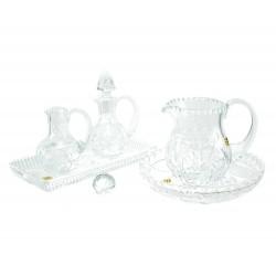 Servizio di ampolline con brocca in cristallo